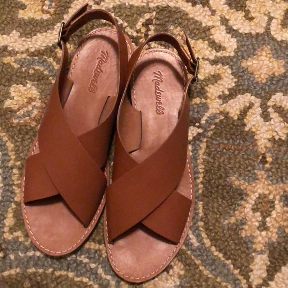 9f208b2b75af Madewell Shoes - Madewell Boardwalk Crossover Sandal! Worn once!
